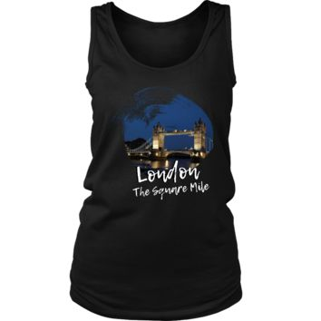 London The Square Mile Skyline Love Country Women's Tank
