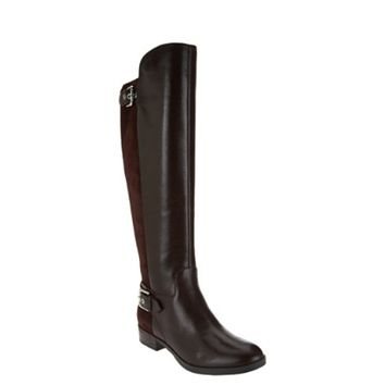 Marc Fisher Damsel Wide Calf Dark Brown Tall Shaft Leather Boots size 9W