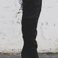 Luxe Over the Knee Boots - Black