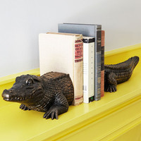 ModCloth Critters What's Up Croc Bookends