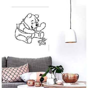 Wall Stickers Vinyl Decal Winnie The Pooh Cartoon Nursery Baby Room (ig1042)