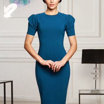 Short dress, Сeladon dress, bodycon dress, Midi dress, elegant dress, evening dress, cocktail dress, prom dress, party dress, puff sleeve