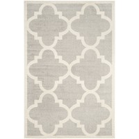 Safavieh Amherst Collection AMT423B Light Grey and Beige Indoor/ Outdoor Area Rug (5' x 8')