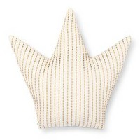 "Crown Throw Pillow (15""x15"") Gold & White - Pillowfort™ : Target"