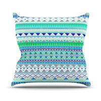 "Nika Martinez ""Emerald Chenoa"" Throw Pillow"