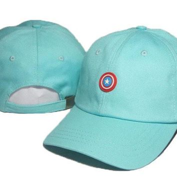 Blue Captain America Embroidered Baseball Cap Hat