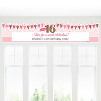 Sweet 16 - Personalized Birthday Party Banners