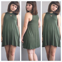 A Maggie Tank Dress in Olive