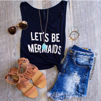 Let's Be Mermaids Top - Black
