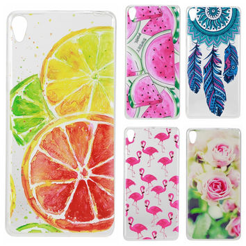 Soft Transparent Cases For coque Sony Xperia E5 F3311 F3313 Case for coque Sony Xperia E5 F3311 Silicon TPU Cute Phone Covers