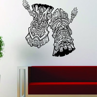 Tikis Version 4 Design Wall Decal Sticker Vinyl Art Hawaiian Beach Teen Tiki