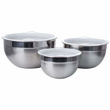 6 PC Stainless Steel Mixing Bowl Set