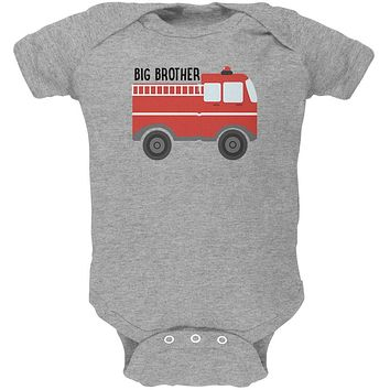 Big Brother Fire Truck Soft Baby One Piece