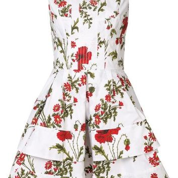 Alexander McQueen Poppyfield Print Dress - Farfetch