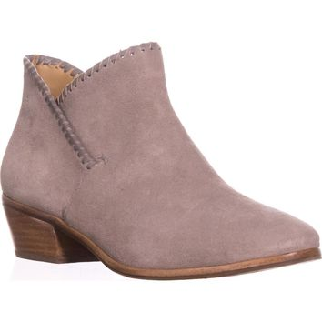 Jack Rogers Sadie Flat Ankle Boots, Light Grey, 9.5 US