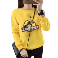 New Hoodies Women Casual Sweatshirt 2017 Harajuku Cartoon Letter Print Long Sleeve Autumn Winter Sudaderas Mujer O-neck Hoody