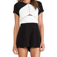 Three of Something Structure Playsuit in Black