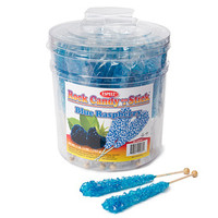 Rock Candy Crystal Sticks - Blue: 36-Piece Tub