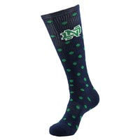 Notre Dame Fighting Irish Polka-Dot 1/2-Cushion Socks - Women, Size: 9-11 (Blue)