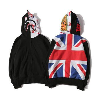 Bape Shark Fashion Hoodies Zippers Hats Top Casual Jacket