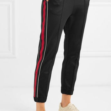 Gucci - Striped jersey track pants