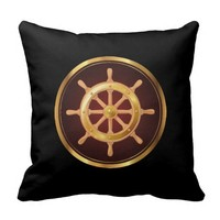 Classy Nautical Helm Pillow