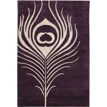 Thomas Paul Feather Rug in Plum / Cream | Wayfair