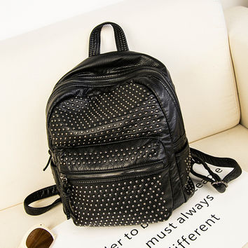 On Sale Comfort Hot Deal Casual Back To School College Korean Simple Design Bags Stylish Backpack [4915472644]