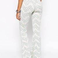 Lira Festival Wide Leg Flare Trousers With Lace Pattern