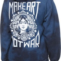 Obey Make Art Not War Indigo Tie Dye Hoodie
