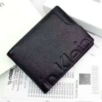 Calvin Klein Men Fashion Leather Zipper Wallet Purse G-A-GHSY-1