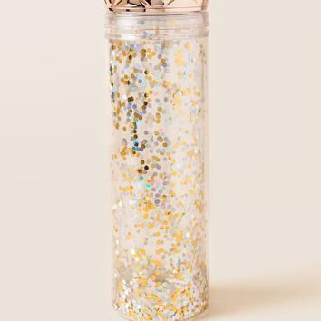 Rose Gold Sequin Tumbler