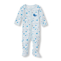Baby Boys Layette Long Sleeve Whale Footed Sleep and Play | The Children's Place