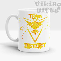 Instinct Team, Pokemon Go, Coffee mug, Watercolor Art Instinct team, Pokemon Go Team Coffee Mug
