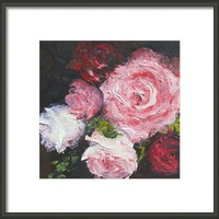 Roses Oil Painting Framed Print