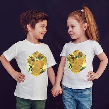 Van Gogh Kids Shirts Kids Tshirt Shirt Gift For Kids Sunflowers Van Gogh Kids Art Painting Shirt Kid T-Shirt Boys Top Girl Top Kids Clothes