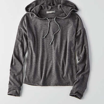 Don't Ask Why Shrunken Hoodie, Charcoal