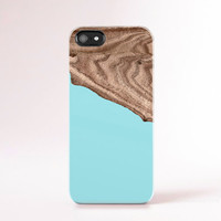 Mint iPhone 6 Case Wood Print Geometric iPhone5 Case Green Blue iphone Samsung Galaxy S5 Case Case Color Block Galaxy S4 Case Green Blue