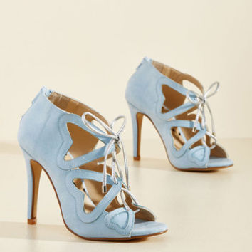 Heartbeat You to It Heel in Sky | Mod Retro Vintage Heels | ModCloth.com