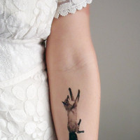 Temporary Tattoos Fox and Rabbit  (Includes 2 tattoos)