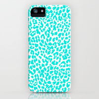 Turquoise Leopard iPhone & iPod Case by M Studio - iPhone 3G, 3GS, 4, 4S, 5, and iPod Touch