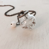 Infertility, Dandelion Fluff, Wishes, Someday Mommy, Adoption, Embryo Transfer, IVF, TTC, Surrogate, Surrogacy, Pregnancy, Necklace
