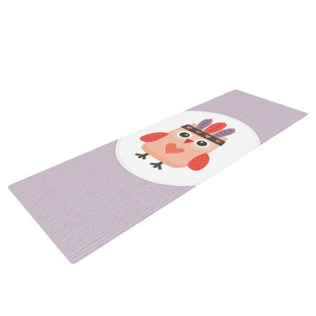 "Daisy Beatrice ""Hipster Owlet"" Purple Yoga Mat"