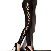 Crisscross Cutout Leggings