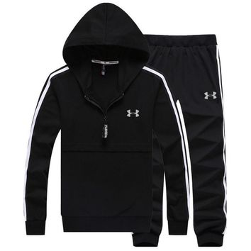 Under Armour PRINT HOODIE TOP AND TWO PIECE SUIT BLACK