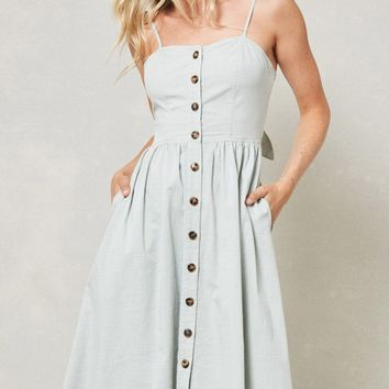 Beatrix Midi Dress - Sage