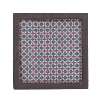 Cross Shaped On Blue Spruce. Stained Glass Pattern Premium Keepsake Box from Zazzle.com