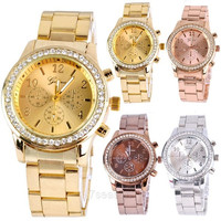 Luxury Ladies Women Girl Unisex Stainless Steel Quartz Analog Wrist Watch  7_S SV007023 = 1916590404