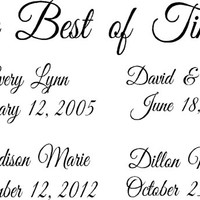 The Best of Times with Names and Dates-Vinyl Lettering- Family Collage- Family Picture- Birthday- Wedding Date-Vinyl Wall Decor