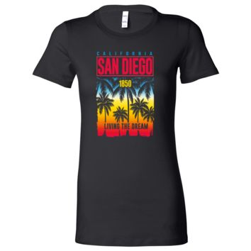 San Diego Living The Dream Ladies Lightweight Fitted T-Shirt